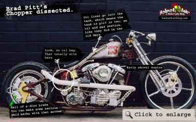 Brad Pitts chopper dissected