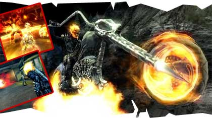 Ghost rider game screens