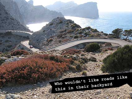 Nice roads of Mallorca