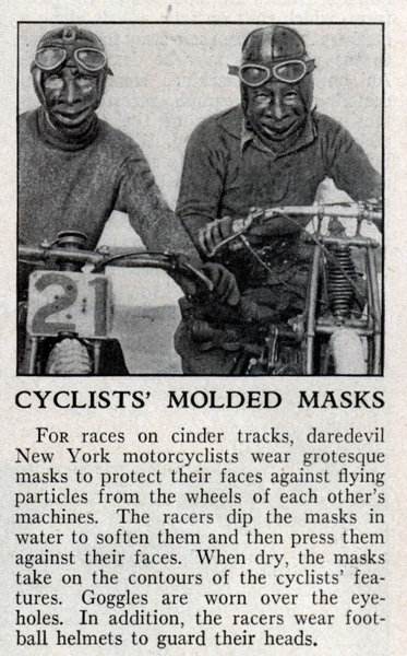 1933 motorcycle facemask