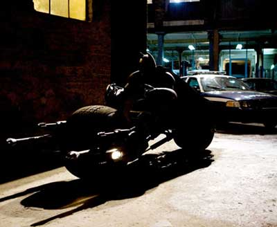 The Batpod for the Dark Knight movie