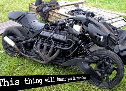 Scary motorcycle