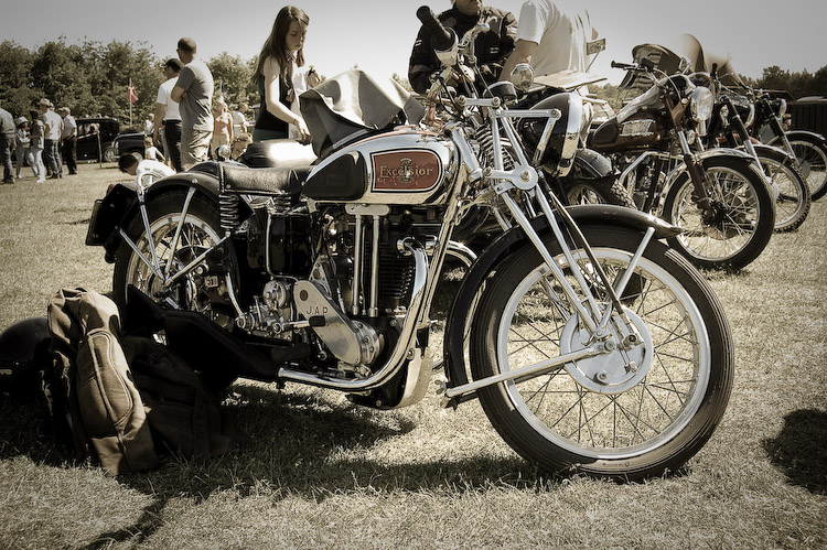 Rare photos of beautifully restored vintage motorcycles